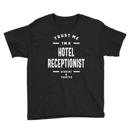 Hotel Receptionist Shirt Job Title Gift Youth Tee Designed By Cidolopez