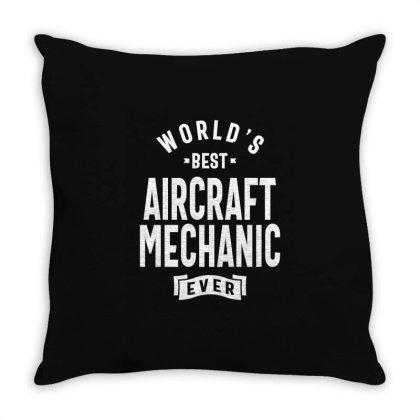 Aircraft Mechanic Shirt Job Title Gift Throw Pillow Designed By Cidolopez