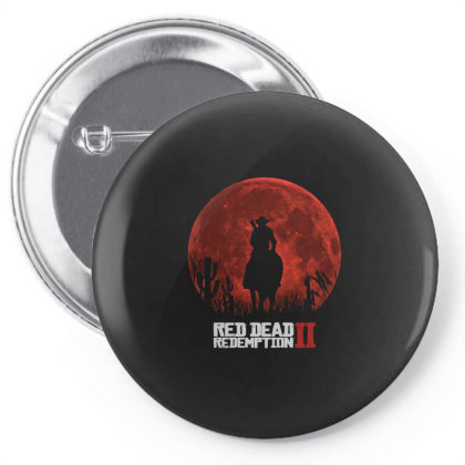 Red Dead Redemption 2 Red Moon Cowboy Pin-back Button Designed By Schulz-12