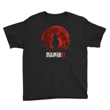 Red Dead Redemption 2 Red Moon Cowboy Youth Tee Designed By Schulz-12