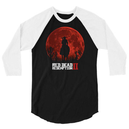 Red Dead Redemption 2 Red Moon Cowboy 3/4 Sleeve Shirt Designed By Schulz-12
