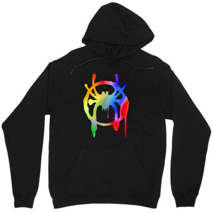 Awesome Rainbow Into The Spider Unisex Hoodie Designed By Trusttees