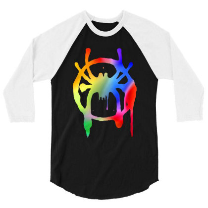 Awesome Rainbow Into The Spider 3/4 Sleeve Shirt Designed By Trusttees
