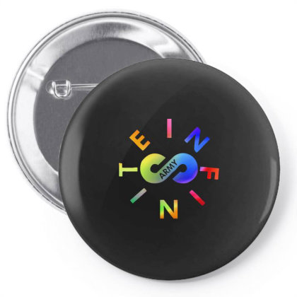 Awesome Rainbow Infinite Lists Army Pin-back Button Designed By Trusttees