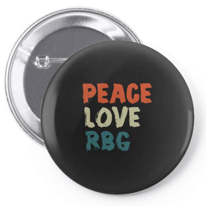Peace Love Rbg Shirt Ruth Bader Ginsburg Retro Vintage Pin-back Button Designed By Schulz-12