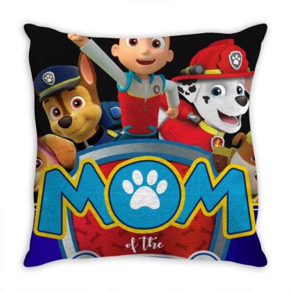 Paw Patrol Birthday Boy Mom Throw Pillow Designed By Schulz-12