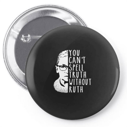 Notorious Rbg Truth Pin-back Button Designed By Schulz-12