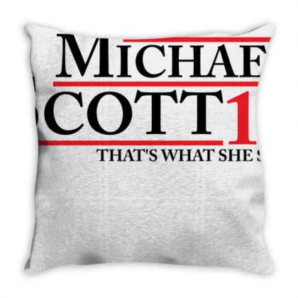 Michael Scott 2016 That's What She Said The Office Throw Pillow Designed By Schulz-12