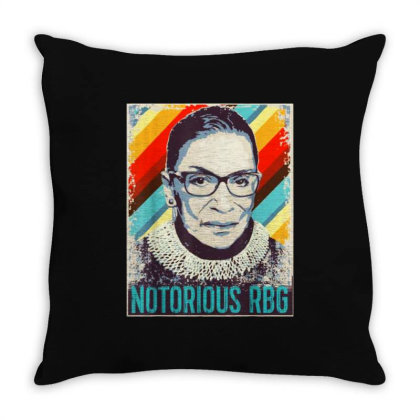Ruth Bader Ginsburg Notorious Rbg Throw Pillow Designed By Advance Shirt