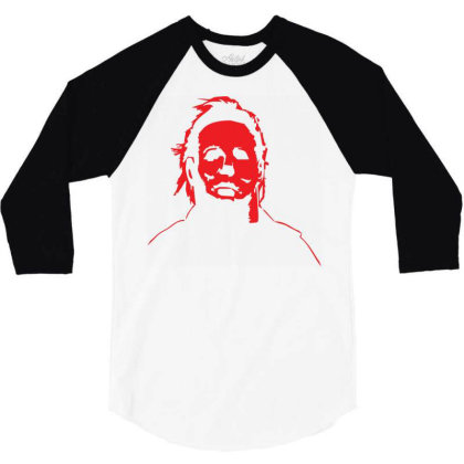 Michael Myers Baby Bodysuit 3/4 Sleeve Shirt Designed By Schulz-12