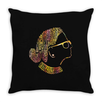 Ruth Bader Ginsburg Quotes Throw Pillow Designed By Kevin Design