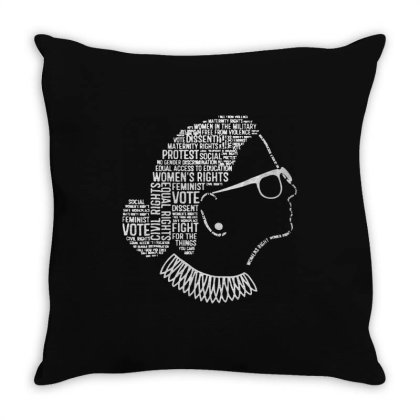 Notorious Rbg    Quotes Throw Pillow Designed By Kevin Design