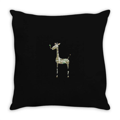 Giraffe Throw Pillow Designed By Jonathanz