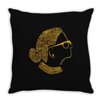 Rbg Quote Throw Pillow Designed By Kevin Design