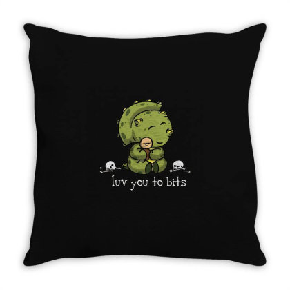 Luv You To Bits Throw Pillow Designed By Jonathanz