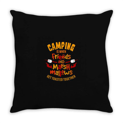 Camping Is When Friends Throw Pillow Designed By Jonathanz