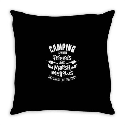 Camping Throw Pillow Designed By Jonathanz