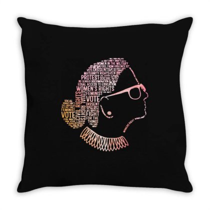 Typography Ruth Bader Ginsburg Quotes Throw Pillow Designed By Kevin Design