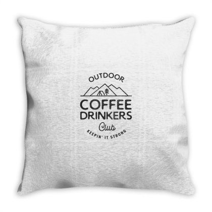 Outdoor Coffee Drinkers Throw Pillow Designed By Jonathanz