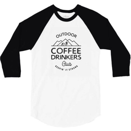 Outdoor Coffee Drinkers 3/4 Sleeve Shirt Designed By Jonathanz