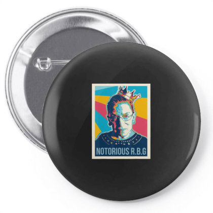 Awesome Vintage Notorious Rbg Pin-back Button Designed By Kevin Design