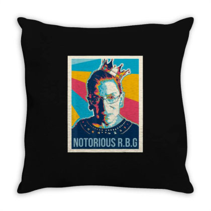 Awesome Vintage Notorious Rbg Throw Pillow Designed By Kevin Design