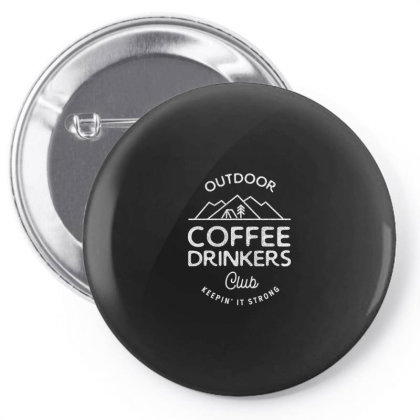 Outdoor Coffee Drinkers Pin-back Button Designed By Jonathanz