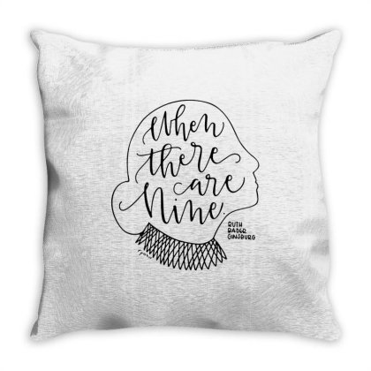 Typography Rgb When There Are Nine Throw Pillow Designed By Kevin Design