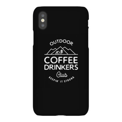 Outdoor Coffee Drinkers Iphonex Case Designed By Jonathanz