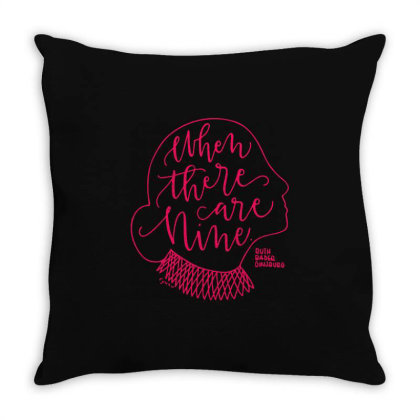 Rgb When There Are Nine Typography Throw Pillow Designed By Kevin Design