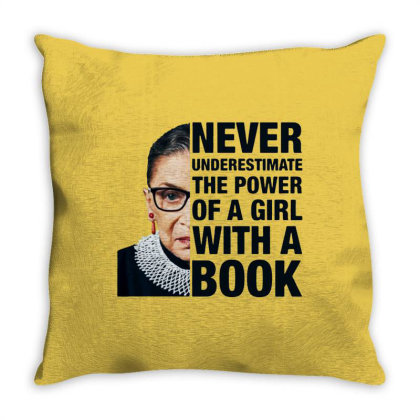 Ruth Bader Ginsburg Throw Pillow Designed By Kevin Design