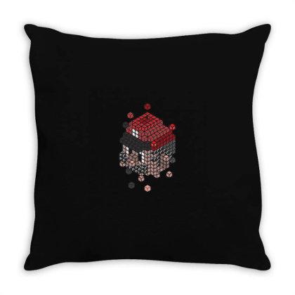 Blockhead Throw Pillow Designed By Jonathanz