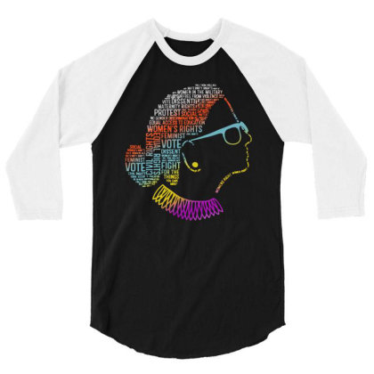 Notorious Ruth Bader Ginsburg Quotes 3/4 Sleeve Shirt Designed By Kevin Design