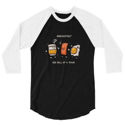 Breakfast 3/4 Sleeve Shirt Designed By Noajansson