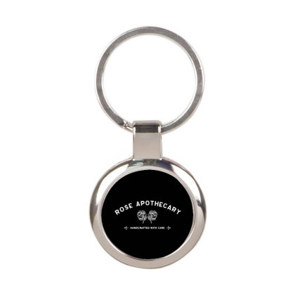 Rose Apothecary   White Round Keychain Designed By Kevin Design