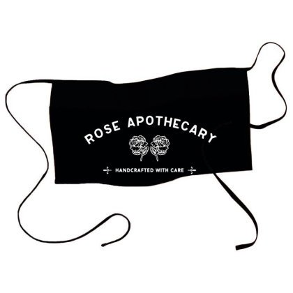 Rose Apothecary   White Waist Apron Designed By Kevin Design