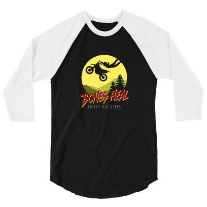 Bones Heal 3/4 Sleeve Shirt Designed By Noajansson