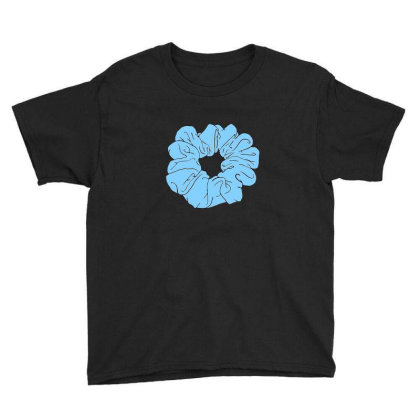 Blue Scrunchie Youth Tee Designed By Noajansson