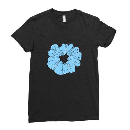 Blue Scrunchie Ladies Fitted T-shirt Designed By Noajansson
