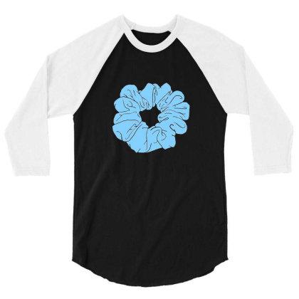 Blue Scrunchie 3/4 Sleeve Shirt Designed By Noajansson
