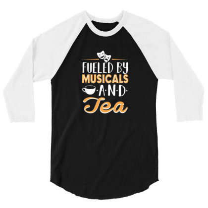 Musical5 And Tea 3/4 Sleeve Shirt Designed By Noajansson