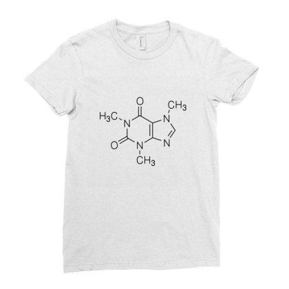 Caffeine Ladies Fitted T-shirt Designed By Brittnicarlson