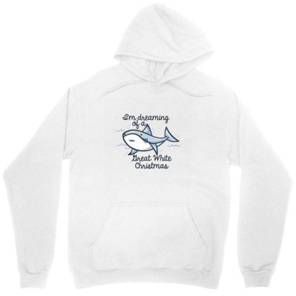 Christmas Shark Unisex Hoodie Designed By Brittnicarlson