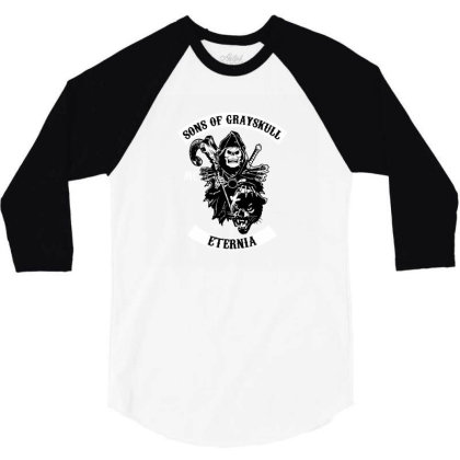 Sons Of Grayskull 3/4 Sleeve Shirt Designed By Brittnicarlson