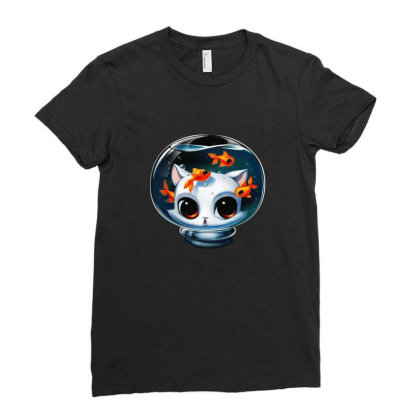 Castronaut Cat Ladies Fitted T-shirt Designed By Brittnicarlson