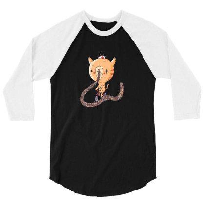 Cat Bike Sick 3/4 Sleeve Shirt Designed By Brittnicarlson
