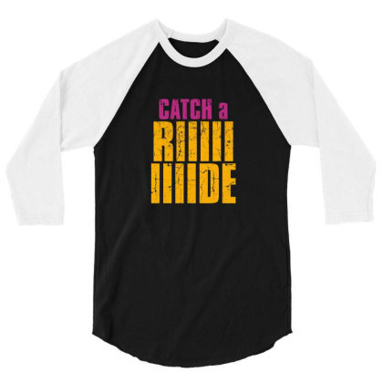 Catch A Ride 3/4 Sleeve Shirt Designed By Jakobsson