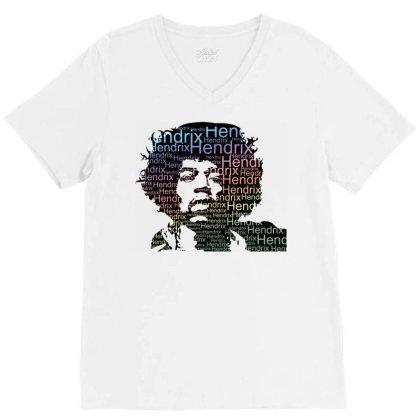 Jimi Hendrix V-neck Tee Designed By Schulz-12