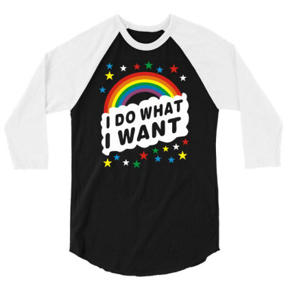 I Do What I Want Lgbt 3/4 Sleeve Shirt Designed By Schulz-12