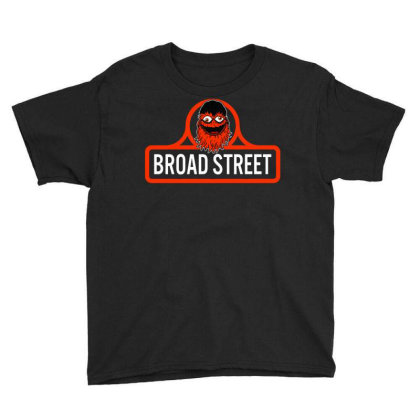 Gritty Broad Street Youth Tee Designed By Schulz-12